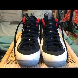 6d05fe2d1a3 Nike Shoes - Nike foamposite size 10.5 Olympic colorway
